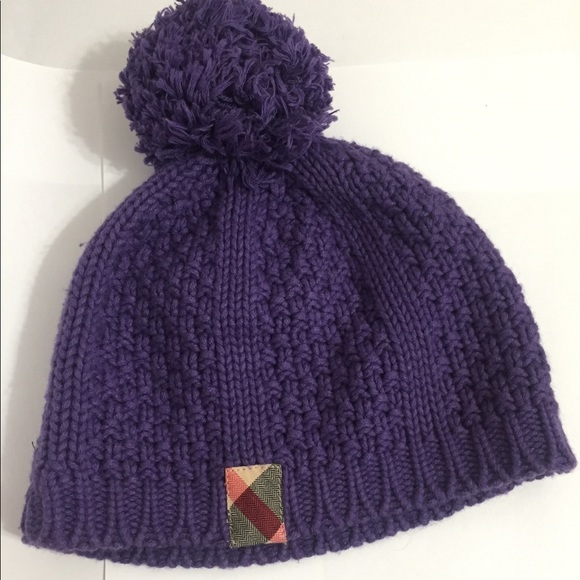 75f066f37cd Burberry Other - Authentic Burberry purple crochet baby hat
